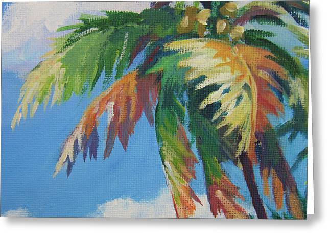 Vibrant Green Greeting Cards - Green Palm  Greeting Card by John Clark