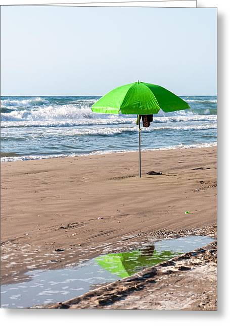 Geology Photographs Greeting Cards - Green Parasol Greeting Card by Christina Rahm Galanis