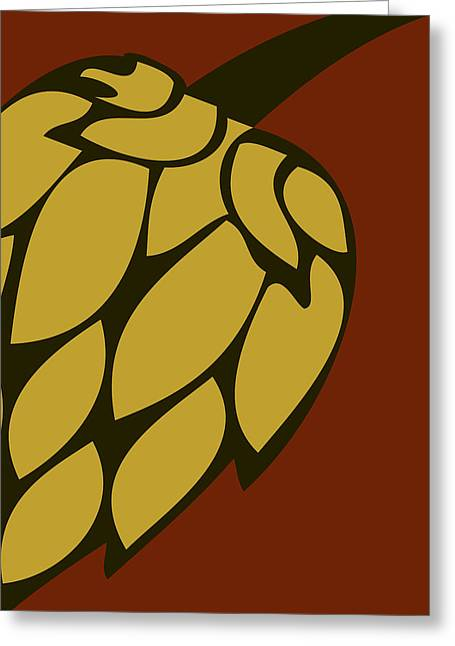 Gameroom Greeting Cards - Green Passion Hops Greeting Card by Alexandra Ortiz de Fargher