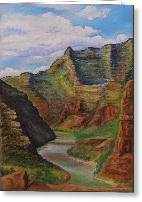 Green River Utah Greeting Card by Lucy Deane