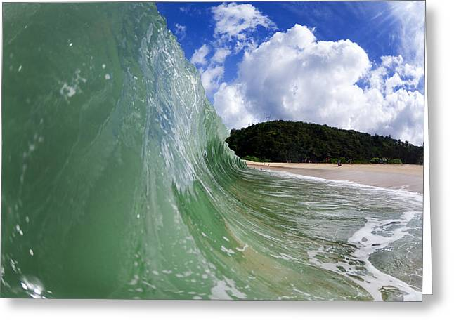 Ocean Art Photography Greeting Cards - Green Scream Greeting Card by Sean Davey