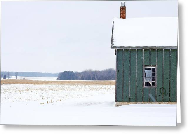 Green shed Greeting Card by Ty Helbach