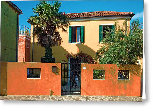 Venice Travel Greeting Cards - Green Shutters Greeting Card by Douglas Girard