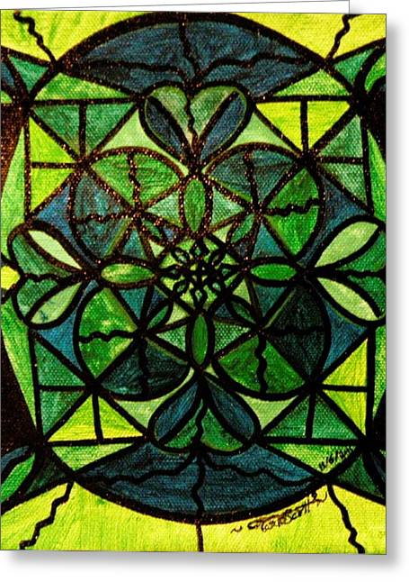 Green Greeting Card by Teal Eye  Print Store