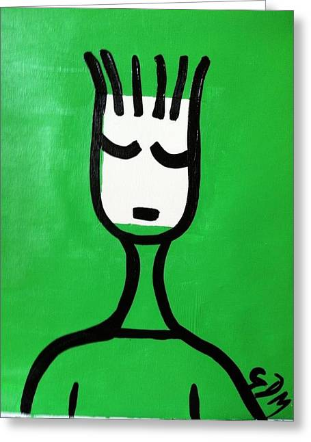 Geoffrey Doig-marx Greeting Cards - Green Thoughts Greeting Card by Geoffrey Doig-Marx