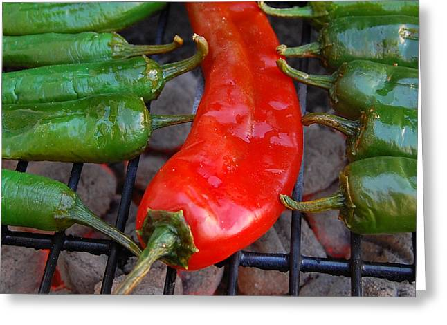 Mexican Food Greeting Cards - Green To Red Greeting Card by Steven Milner