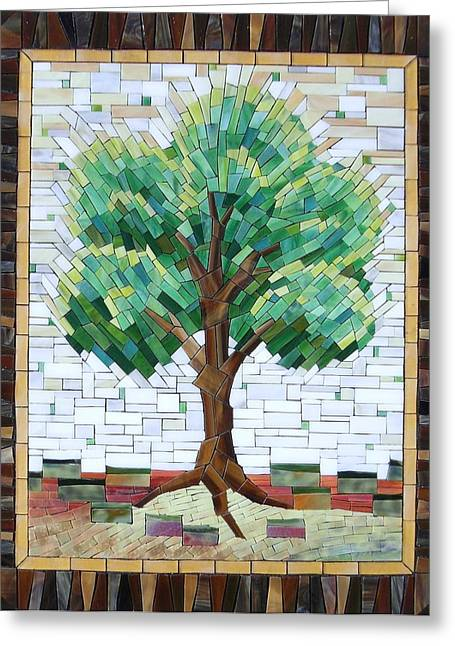 Landscapes Glass Greeting Cards -  Tree of life Greeting Card by Suzanne Tremblay