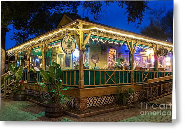 Beach At Night Greeting Cards - Green Turtle Tavern Fernandina Beach Florida Greeting Card by Dawna  Moore Photography
