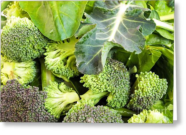 Broccoli Greeting Cards - Green vegetables Greeting Card by Sinisa Botas