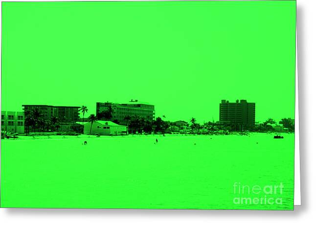 View Greeting Cards - Green view. Special... Greeting Card by Oksana Semenchenko