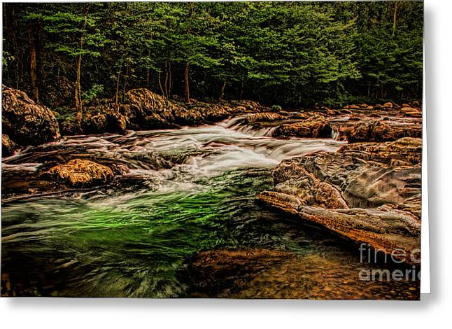 Dave Bosse Greeting Cards - Green Water  Greeting Card by Dave Bosse