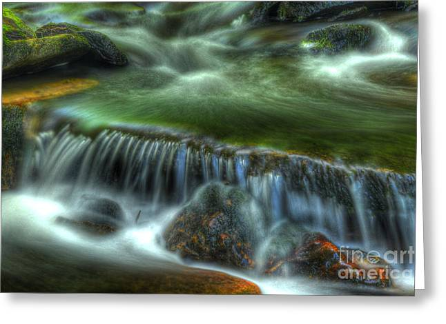 Moss Green Greeting Cards - Green waters Greeting Card by Paul W Faust -  Impressions of Light