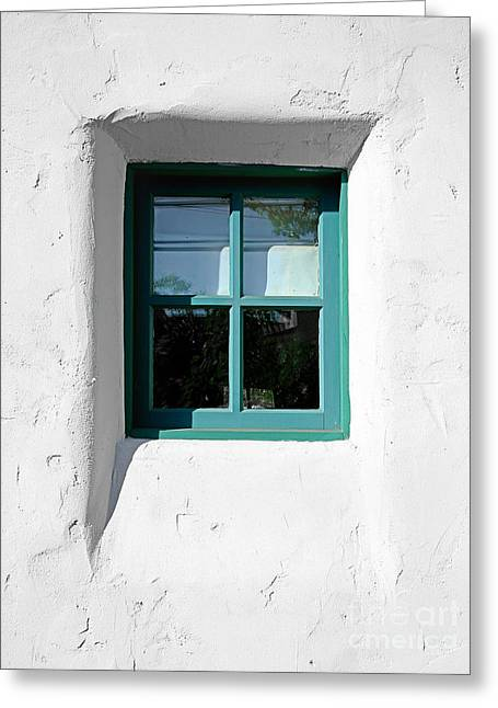 Kate Mckenna Greeting Cards - Green Window Greeting Card by Kate McKenna