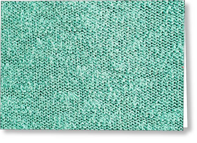 Coarse Greeting Cards - Green wool Greeting Card by Tom Gowanlock