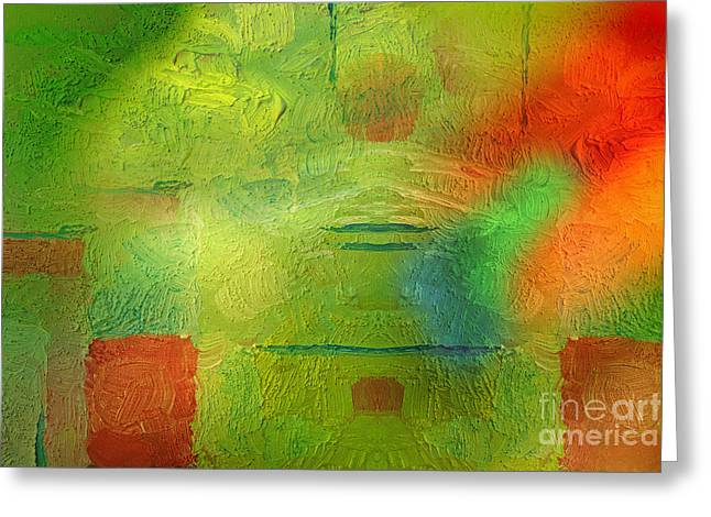 Featured Art Greeting Cards - Green World Greeting Card by Lutz Baar