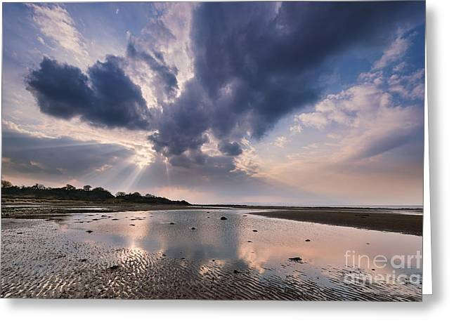 Ayrshire Greeting Cards - Greenan Beach Greeting Card by Rod McLean