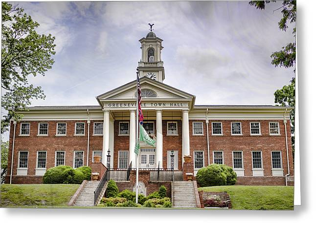 Town Of Franklin Greeting Cards - Greeneville Town Hall Greeting Card by Heather Applegate