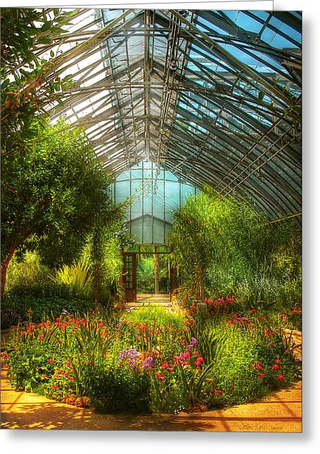 Warm Summer Greeting Cards - Greenhouse - Paradise under glass  Greeting Card by Mike Savad