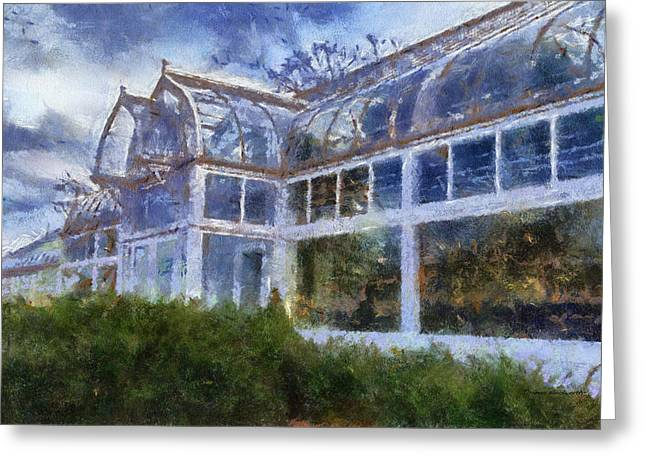 Cultivation Digital Art Greeting Cards - Greenhouse Photo Art 02 Greeting Card by Thomas Woolworth