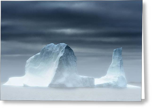 Coldly Greeting Cards - Greenland, Upernavik, Iceberg In The Greeting Card by Tips Images
