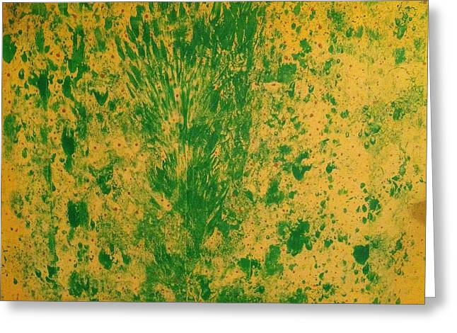 Forgiveness Greeting Cards - Greens with Yellow Greeting Card by Ross Girardi