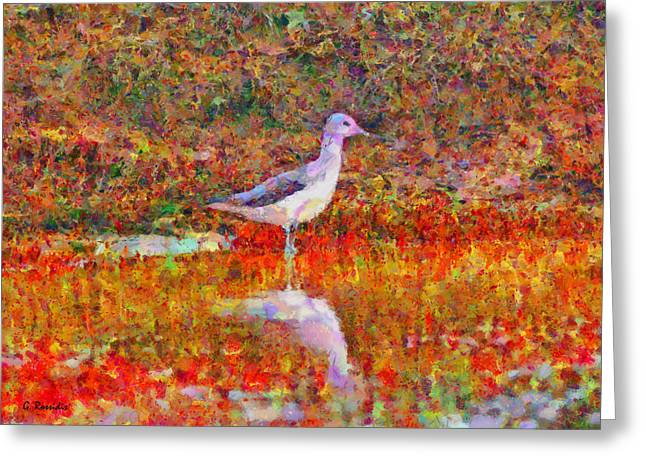 Colrful Greeting Cards - Greenshank Greeting Card by George Rossidis
