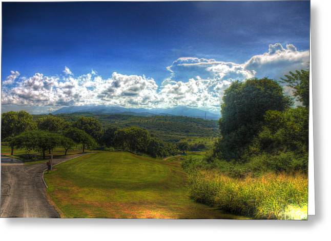 Puerto Rico Golf Course Greeting Cards - Greenway Greeting Card by Francisco Colon