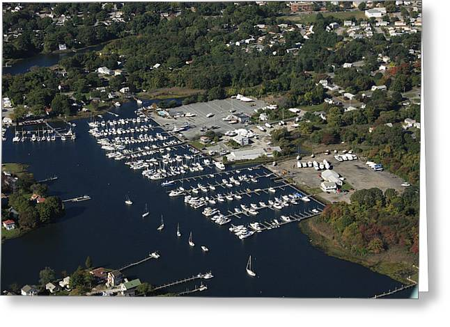 Warwick Greeting Cards - Greenwich Bay Marina, Warwick Greeting Card by Dave Cleaveland