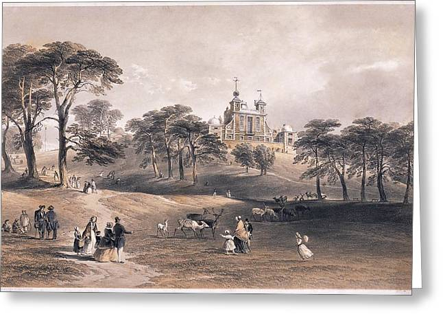 Family Time Greeting Cards - Greenwich Observatory, 1851 Greeting Card by Science Photo Library