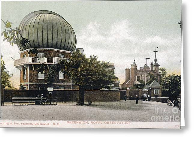 Royal Art Greeting Cards - Greenwich Observatory Greeting Card by Mary Evans Picture Library