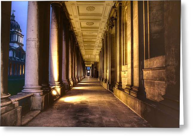 Royal Naval College Greeting Cards - Greenwich Royal Naval College HDR Greeting Card by David French