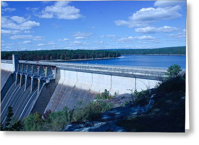 Heber Springs Greeting Cards - Greers Ferry Dam Greeting Card by Edward Hamilton