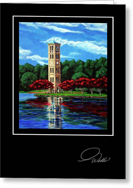 Andrew Wells Greeting Cards - GREETING CARD - Furman Tower Greeting Card by Andrew Wells