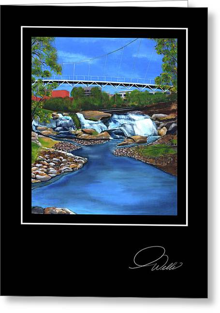Andrew Wells Greeting Cards - Greeting Card - Liberty Bridge Greeting Card by Andrew Wells