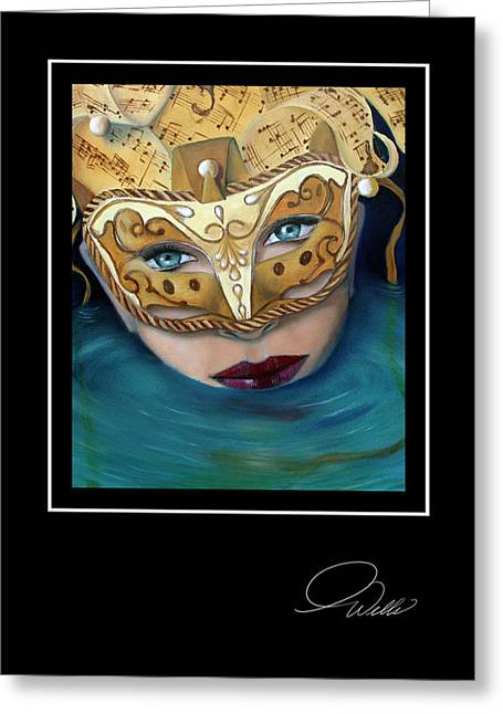 Andrew Wells Greeting Cards - Masquemermaid Greeting Card by Andrew Wells