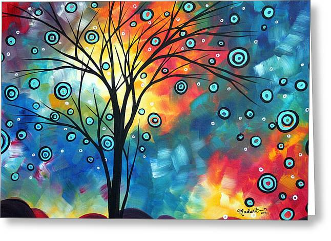 Wall Licensing Greeting Cards - Greeting the Dawn by MADART Greeting Card by Megan Duncanson