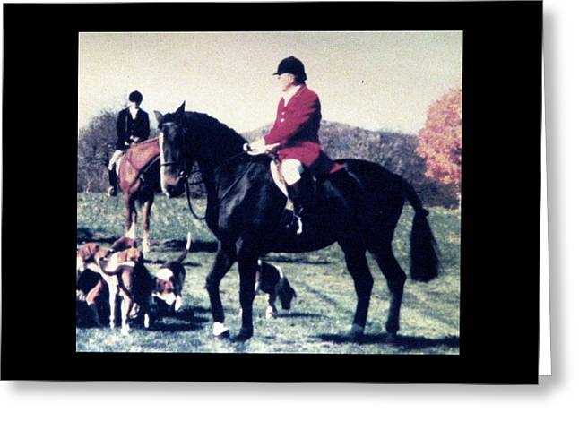 Foxhunting Greeting Cards - Greeting The Master Greeting Card by Angela Davies