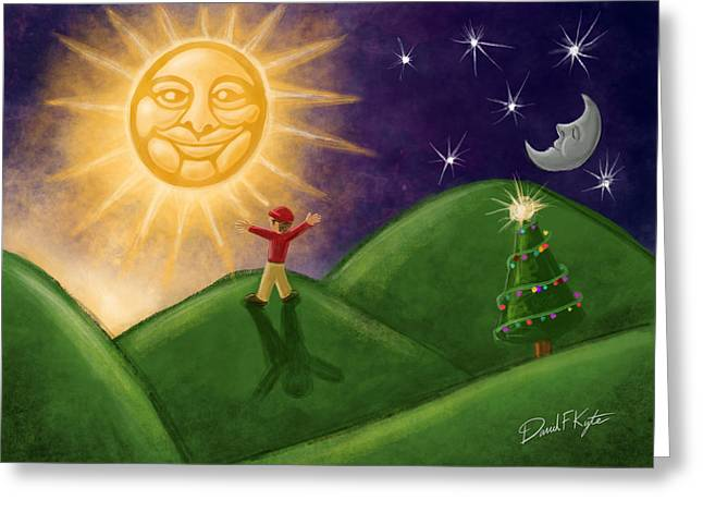 Winter Solstice Greeting Cards - Greeting The New Sun Greeting Card by David Kyte