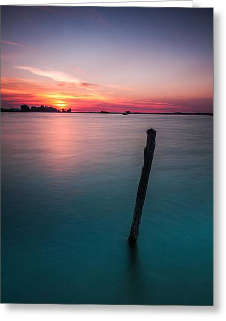 Blue Green Water Greeting Cards - Greeting The Sun Greeting Card by Davorin Mance