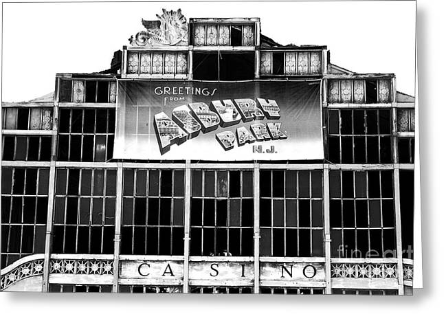 Asbury Casino Greeting Cards - Greetings from Asbury Park Greeting Card by John Rizzuto