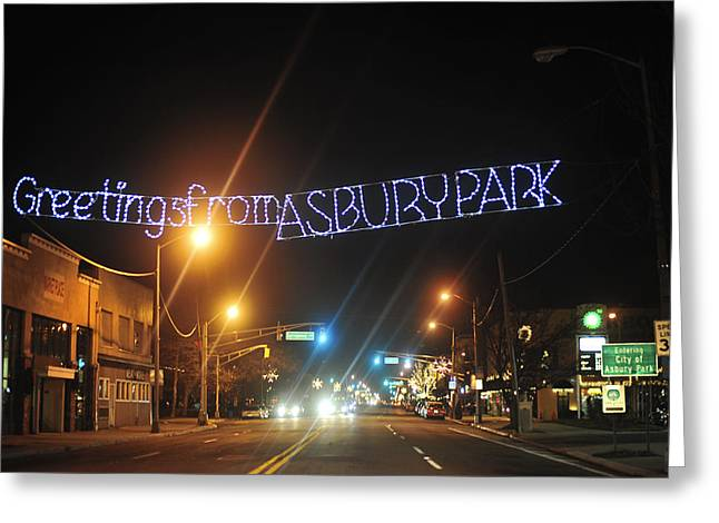 Asbury Greeting Cards - Greetings from Asbury Park Greeting Card by Terry DeLuco