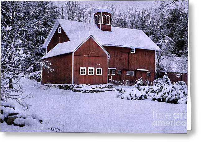 Wintry Photographs Greeting Cards - Greetings from New England Greeting Card by Thomas Schoeller