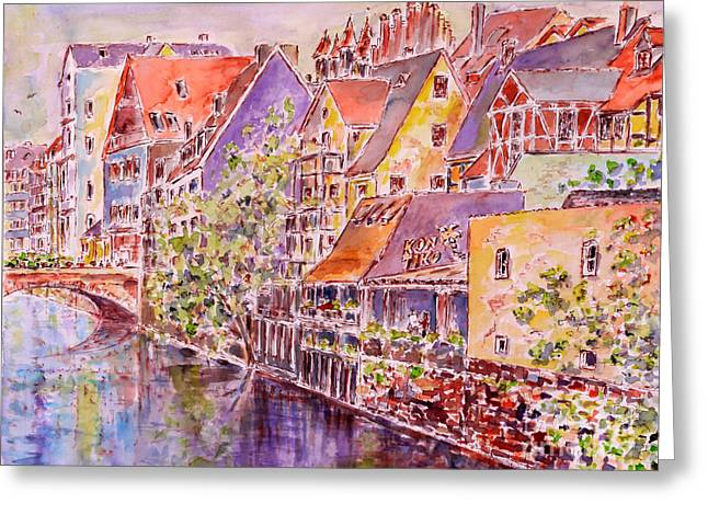 Greetings From Nuremberg Greeting Card by Alfred Motzer
