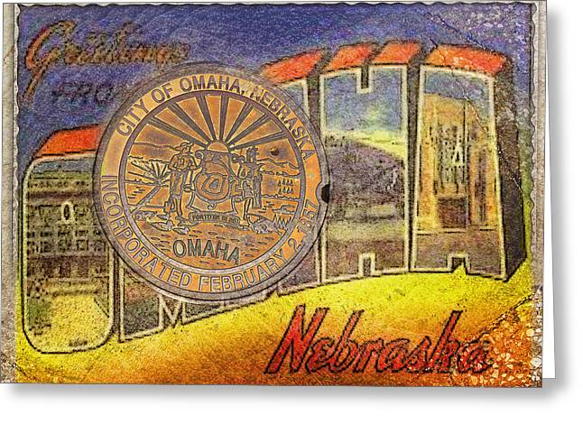 Omaha Nebraska Fashion Greeting Cards - Greetings From Omaha Greeting Card by John Anderson