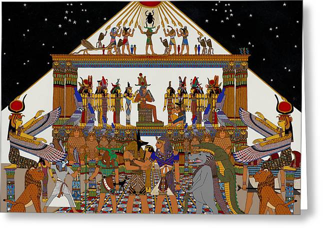 Greetings Tutankhamun  Greeting Card by Alan Morrison