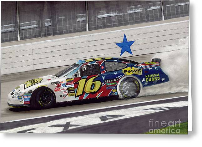 Sponsor Greeting Cards - Greg Biffle Wins at Texas Greeting Card by Paul Kuras
