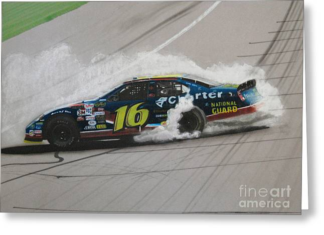 Sponsor Greeting Cards - Greg Biffle Wins Greeting Card by Paul Kuras