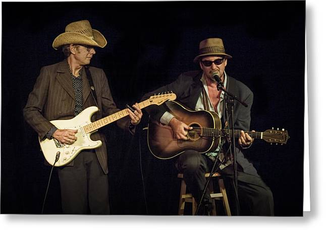 """folk Singers"" Greeting Cards - Greg Brown and Bo Ramsey in Concert Greeting Card by Randall Nyhof"