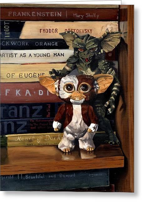 Kafka Paintings Greeting Cards - Gremlins Greeting Card by Rick Liebenow