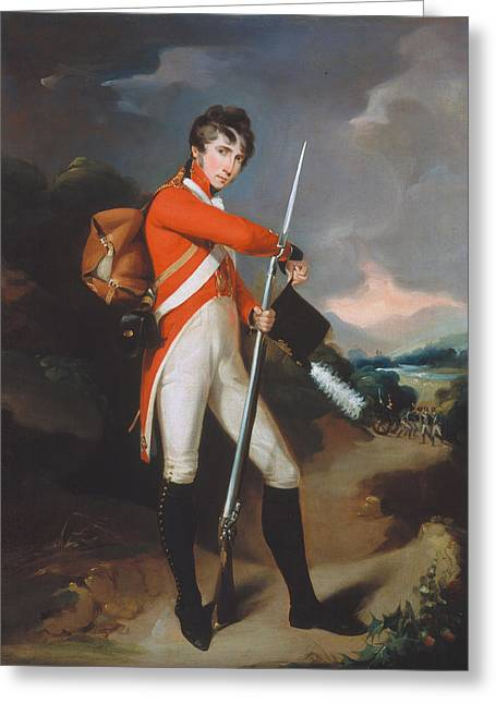 Bayonet Paintings Greeting Cards - Grenadier Of A Volunteer Regiment Greeting Card by Arthur William Devis
